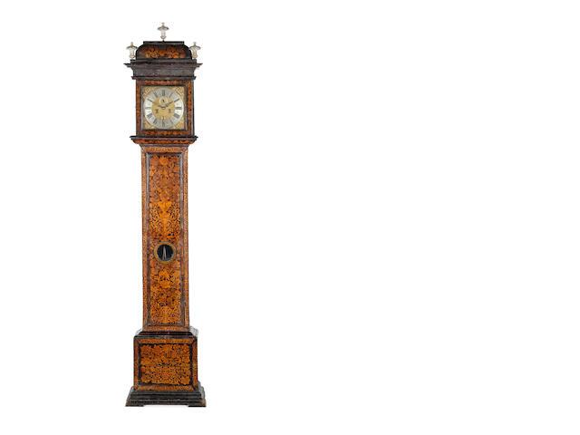 A good late 17th century walnut longcase clock