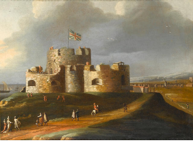 Circle of Peter Tillemans (Antwerp 1684-1734 Norton) Sandown Castle, Deal