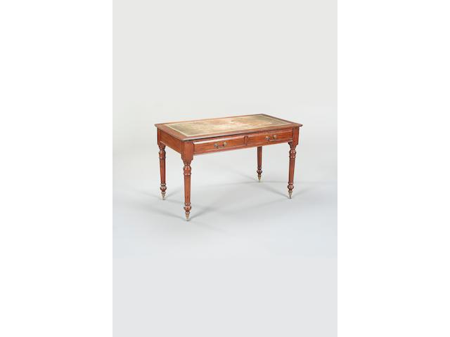 A Victorian mahogany writing desk,