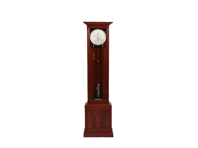 A contemporary longcase regulator,