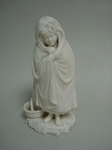 A Minton Parian figure of a girl in a shawl