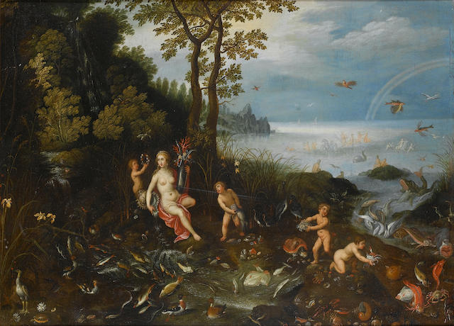 Circle of Jan Brueghel the Younger (Antwerp 1601-1678) Allegory of Water