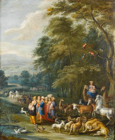 Attributed to Engelbert Ergo (Oudenaarde circa 1620-circa 1667) Noah gathering the Animals