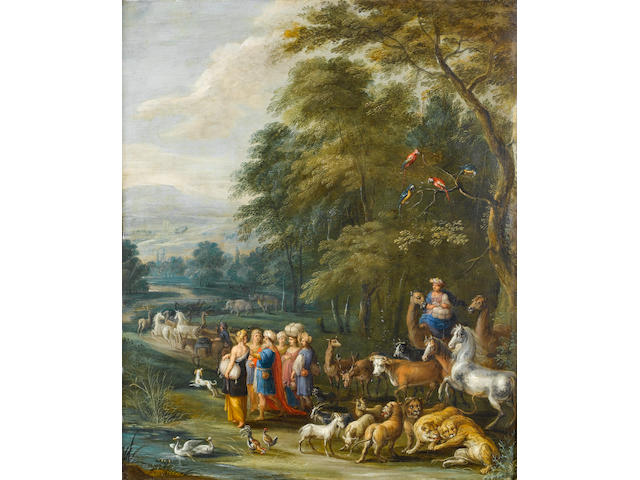 Attributed to Engelbert Ergo (Oudenaarde circa 1620-circa 1667) Noah gathering the Animals