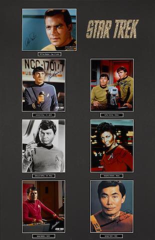 'Star Trek': original actors' autographs and related items,