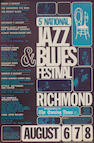 A poster for the '5th National Jazz and Blues Festival', 6th-8th August, 1965,