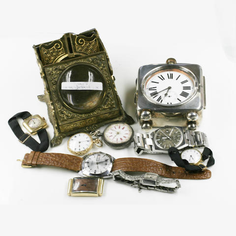 A collection of assorted wrist and pocket watches