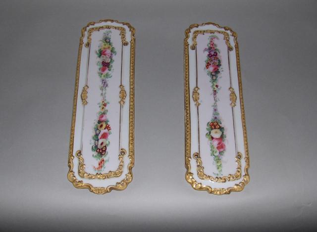 A pair of Copeland and Garrett door finger plates. (2)