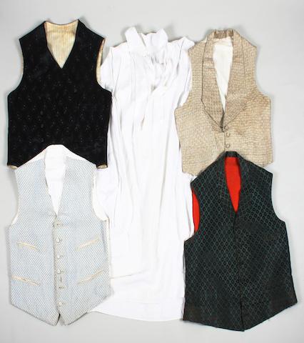 Four 19th century men's waistcoats
