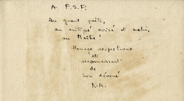 "ALDINGTON (RICHARD), and IMAGISTS ALDINGTON (RICHARD) Images of Desire, inscribed ""Frank from Richard, 1917"", publisher's wrappers, defective and detached, Elkin Matthews"