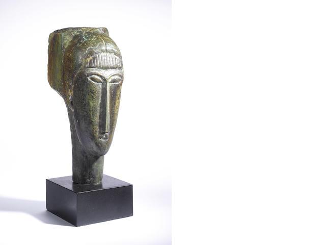 Amedeo Modigliani, (Italian, 1884-1920) 48.5 x 16 x 22.5 cm (19 1/8 x 6 1/4 x 8 7/8in) Total height
