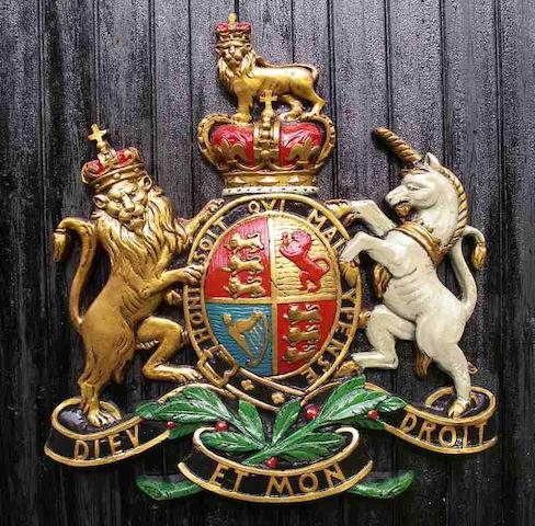 A car showroom royal endorsment coat of arms,