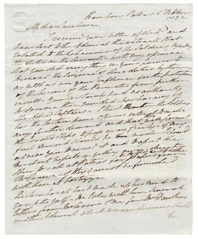 Papers of Admiral Swinburne and his son Algernon Charles Swinburne