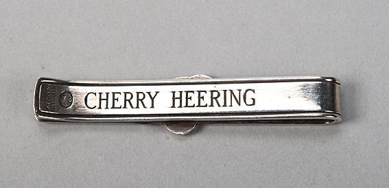Georg Jenson: a silver tie clip,