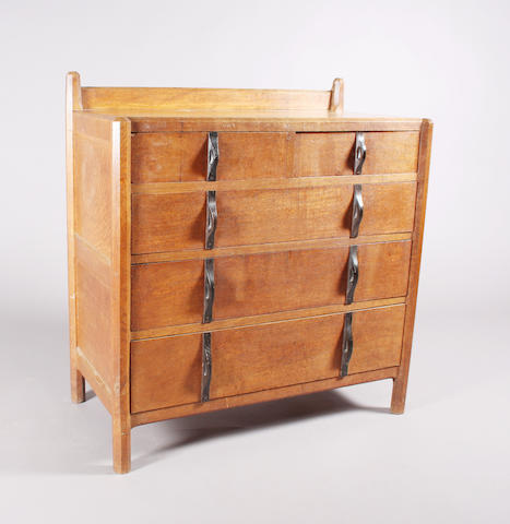 A Gordon Russell 'Stow' oak chamfered frame chest, designed by Gordon Russell, No. 103, circa 1926