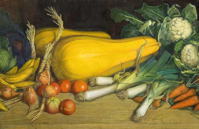 """Edward Woore (British, active 1919-1936) """"Fruits of the Earth"""""""