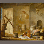 Harmen van Steenwyck (Delft 1612-circa 1656) A kitchen interior unframed