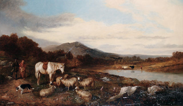 Circle of Richard Ansdell, RA (British, 1815-1885) A highland scene