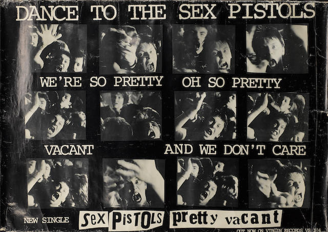 A promo poster for the single 'Pretty Vacant' by the Sex Pistols, UK, 1977,