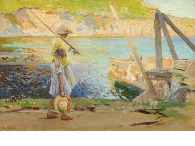 Frank Gascoigne Heath (British, 1873-1931) Two young fishergirls