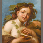 Carracci School, 17th Century A Bacchante