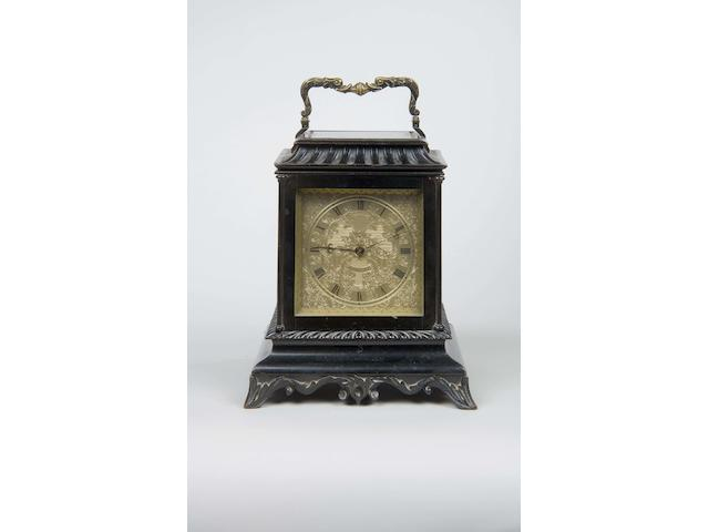 A William IV ebonised mantel timepiece by Widenham
