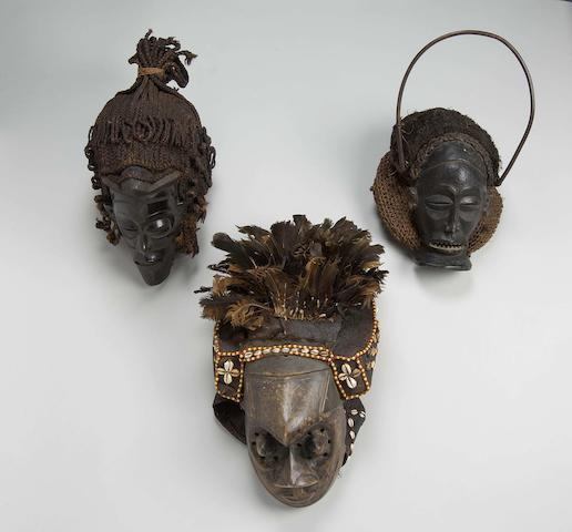 Two Chokwe masks and a Kuba mask Democratic Republic of Congo/Angola 3