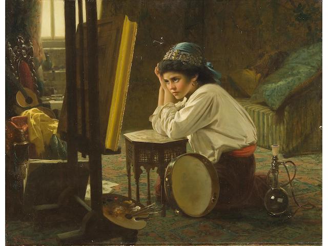 Robert Kemm (British, 1837-1895) The artist's model