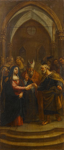 Circle of Francesco Trevisani (Capo d'Istria 1656-1746 Rome) The Visitation; and The Betrothal of th