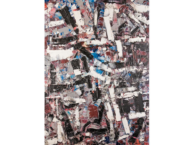 Jean-Paul Riopelle, R.C.A. (Canadian, 1923-2002) Le chant de l'alouette 39 1/4 x 28 1/2in (100.3 x 72.4cm)