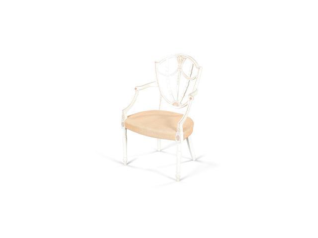 A set of nine George III style open armchairs,