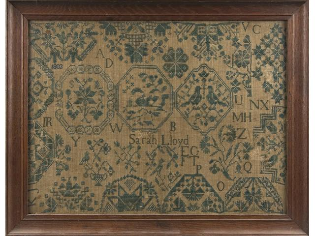An unusual George III sampler