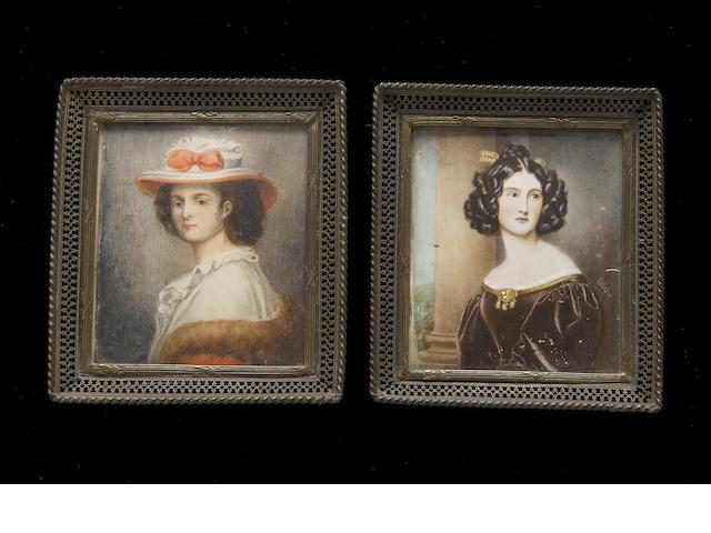 A pair of 19th Century school miniatures