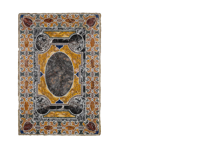 17th Century pietra dure table top