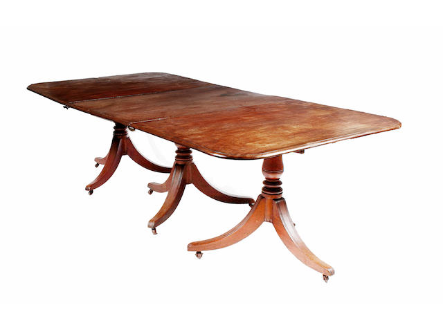 A Regency mahogany dining table,