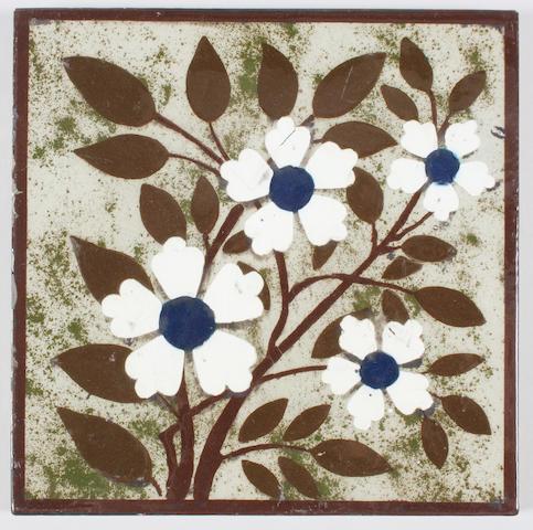 A Wedgwood & Co. barbotine tile