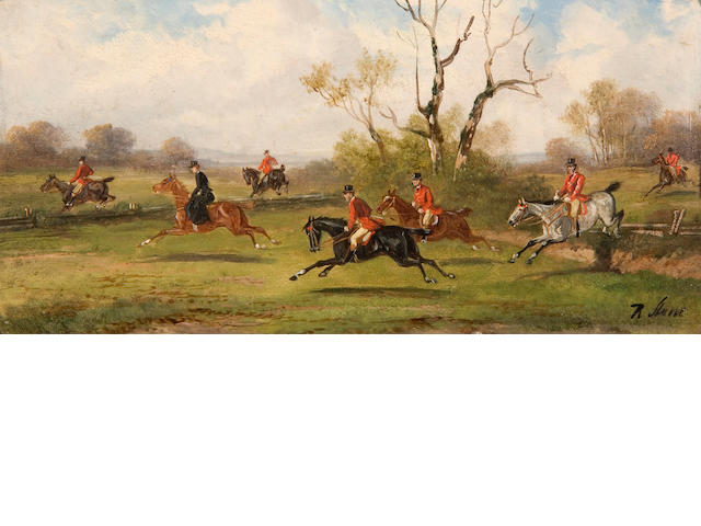Robert Stone (British, active 1900) Hunting scenes a set of four,