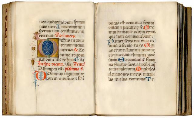 ILLUMINATED MANUSCRIPT Book of Hours, Use of Rome