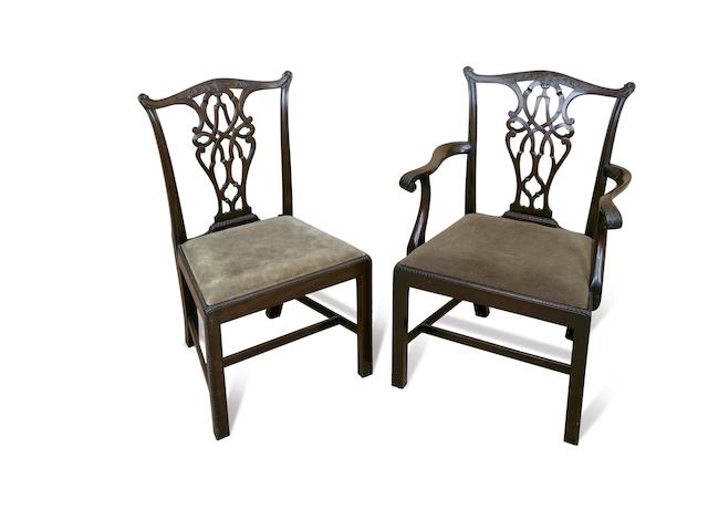 A set of eight early 20th century mahogany dining chairs circa 1920