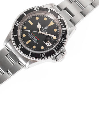 Rolex. A fine and rare stainless steel automatic calendar bracelet watch with punched Guarantee Cert