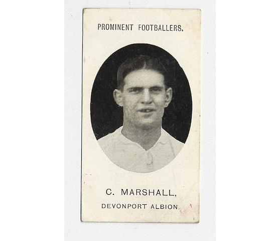 Taddy Prominent Footballers (Mixed With Footnote and No Footnote, 86) inc. West Ham (12), the remainder in oddments such as Devonport Albion (1), Richmond (1), New Brompton (1), Clapton Orient (2),  Hull City (2), Plymouth Argyle (1) etc., F-VG.