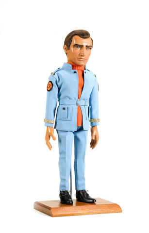 Thunderbirds Are GO!: an original Captain Paul Travers puppet head, mounted on an original Jeff Tracy Stage 1 body, with original hands,