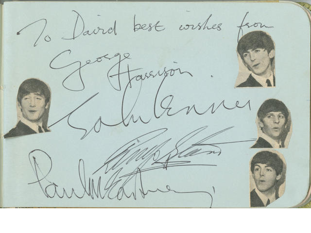 A set of Beatles signatures, 1963/64,