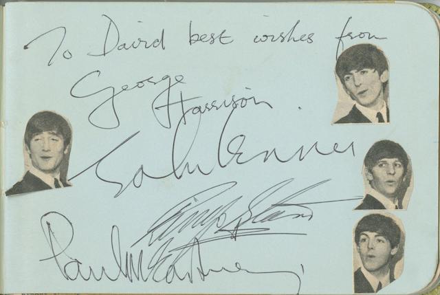 A set of Beatles signatures, 1963/64,