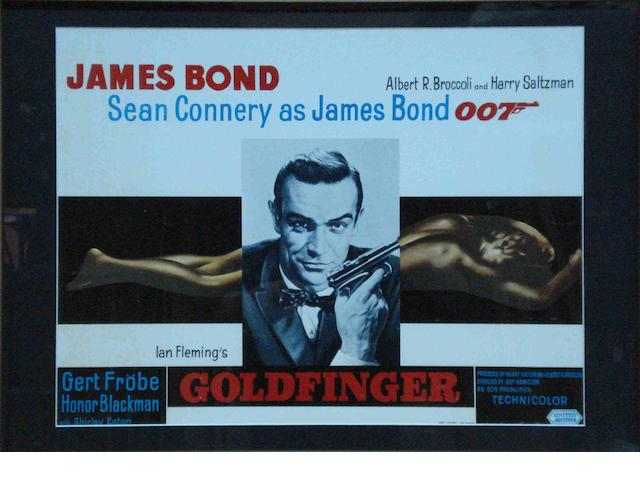 An original release James Bond 'Goldfinger' cinema advertising poster, 1960s,