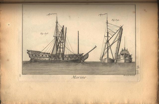 NAVAL PARIS (EDMOND) Souvenirs de marine: Collection de plans ou dessins de navires et de bateaux anciens ou modernes, 6 vol.