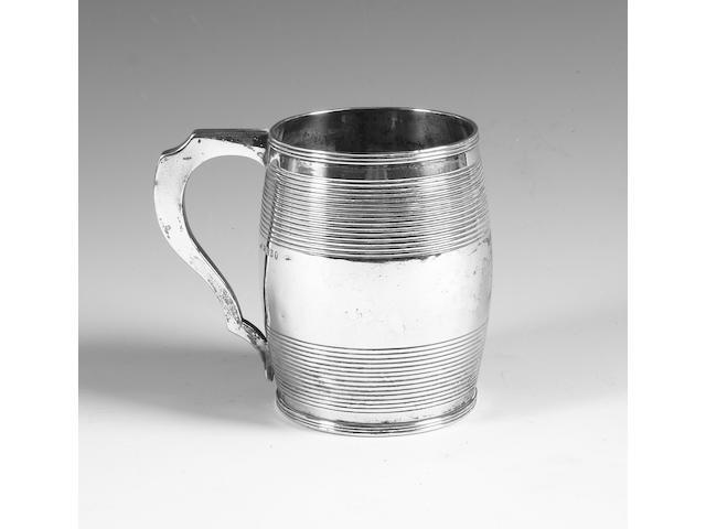 A George III silver mug London, 1811,