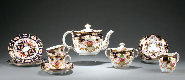 A Royal Crown Derby 'Imari' composite tea service Circa 1895