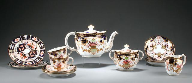 A Royal Crown Derby 'Imari' composite tea service Circa 1895