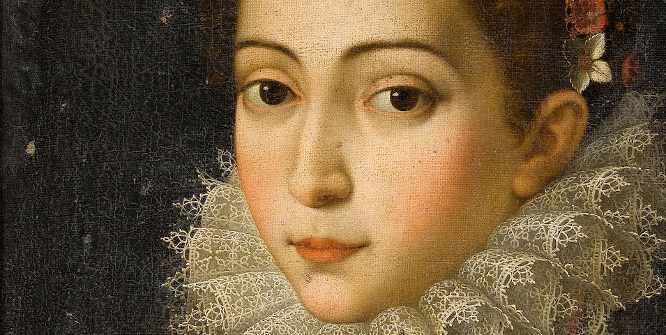 Studio of Scipione Pulzone (Gaeta circa 1550-1598 Rome) Portrait of a young lady,